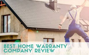Handyman jumping in front of house: Home Warranty Companies