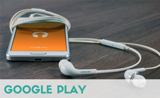Google Play on iphone with headphones